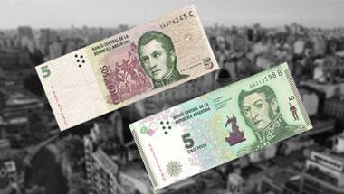 Saldrán de circulación los billetes de 5 pesos argentinos